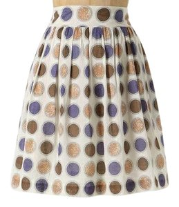 Anthropologie Edme & Eysllte Circle Print Mini Skirt
