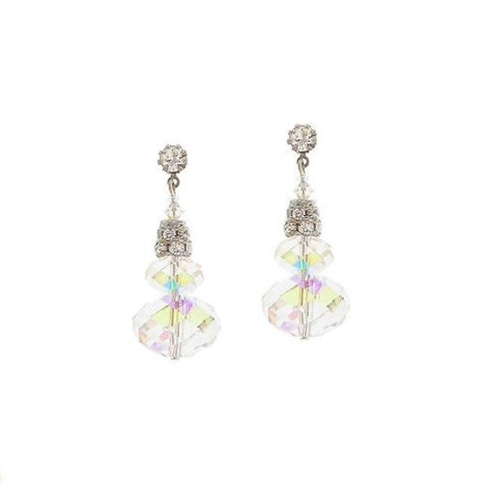 Giavan Giavan HOL506ESM- (e-21) Swarovski Iridescent Stacked Briolette Earrings - Image 1