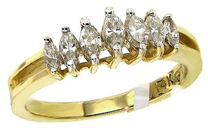 ABC Jewelry 1 Ct 7 Stone Marquise Diamond Band