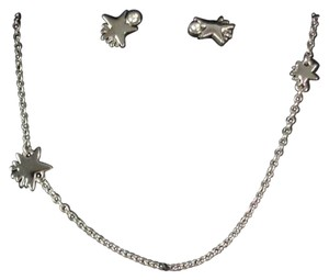 Coach Coach F90813 Women's Shooting Star Silver tone Necklace & Earrings Set in Gift Box NEW! $150