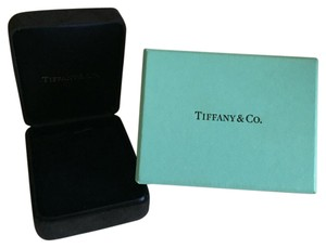 Tiffany & Co. Tiffany & Co - Dark Blue Suede NECKLACE Box with Robin Blue Outer Boxes