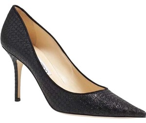 Jimmy Choo BLACK GLITTER FABRIC Pumps