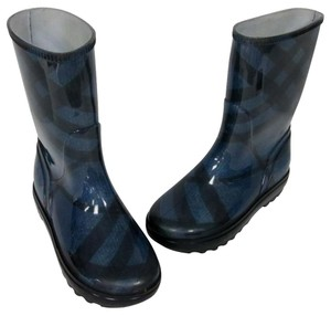 Burberry Brit London Ankle Rain Blue Boots