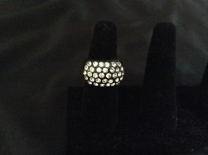Custom-Made Black ring with rhinestones.