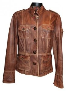 Tory Burch Brown Leather Jacket