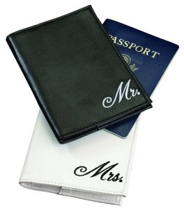 Lillian Rose Black & White Mr. Mrs. Passport Covers Luggage