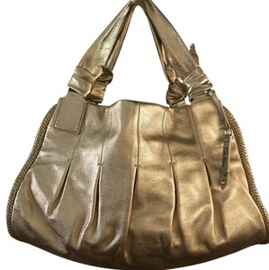Cole Haan Satchel in Gold Leather
