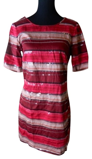 Dillard's short dress Red/Pink Sequin Quarter Sleeve on Tradesy