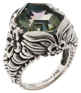 Orvieto Silver Orvieto Silver 7ct Hexagon Nile Quartz Sterling Silver Ring - Size 7