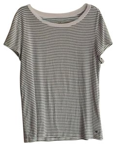 American Eagle Outfitters T Shirt Black and White Stripes