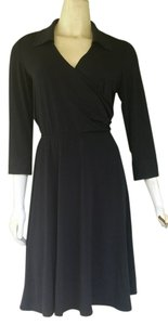 Sandra Darren Slimky 3/4 Sleeves Cross-over Career Dress