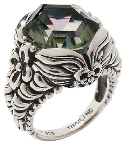 Orvieto Silver Orvieto Silver 7ct Hexagon Nile Quartz Sterling Silver Ring - Size 8