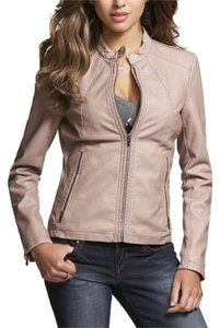 Express Taupe Leather Jacket
