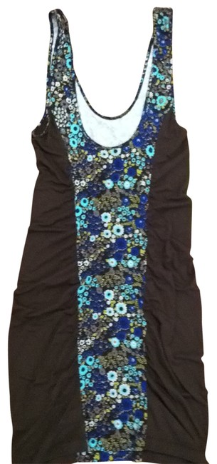Preload https://item4.tradesy.com/images/free-people-dark-gray-blue-floral-print-short-casual-dress-size-12-l-161468-0-0.jpg?width=400&height=650