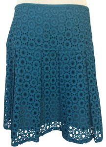 Pim + Larkin Mini Skirt Teal blue
