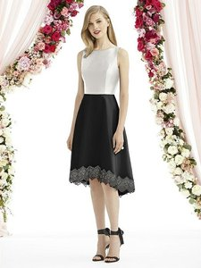 After Six Black Skirt Starlight Top Mousseline 6748 Modern Bridesmaid/Mob Dress Size 6 (S)