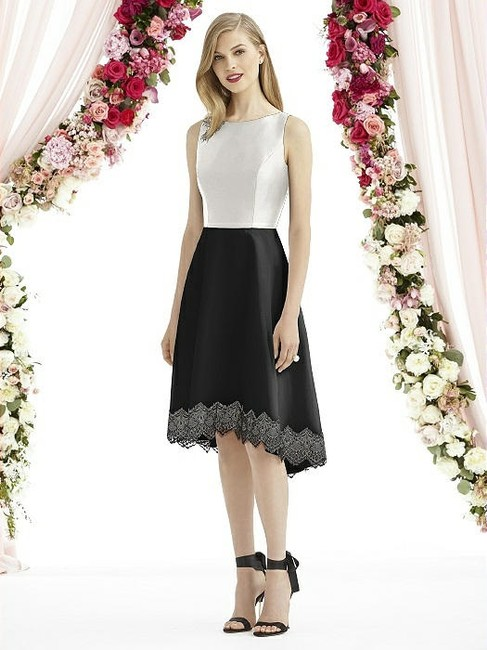 Item - Black Skirt Starlight Top Mousseline 6748 Modern Bridesmaid/Mob Dress Size 6 (S)