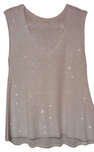 Zara Top WHITE SEQUIN