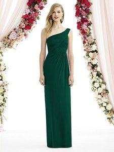 After Six Hunter Green Chiffon 6737 Modern Bridesmaid/Mob Dress Size 10 (M)