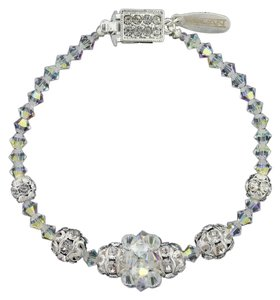 Giavan HOL250B (b-4) Iridescent Crystal Bracelet with Center Cluster