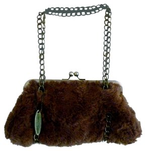 Chinese Laundry Faux Fur Brown Clutch