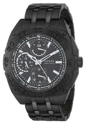 Guess GUESS Black Ion-Plated Bracelet Mens Watch on Sale ...