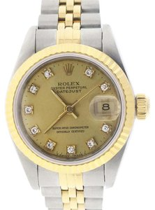Rolex Rolex Datejust Ladies 2-Tone Gold/Steel Original Diamond Dial 26MM Watch 69173