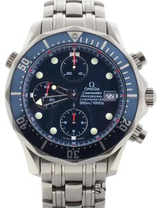 Omega Omega Seamaster Chronograph 42MM Blue Dial Steel Automatic Watch 2225.80.00