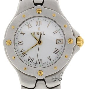 Ebel Ebel Sportwave 2-Tone 18K Yellow Gold & Steel Date 27MM Ladies Watch E6087621