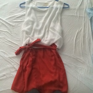 Instyle short dress White and Coral on Tradesy