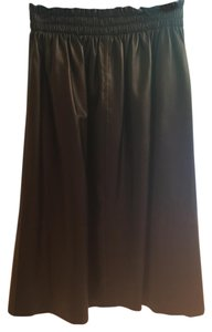 By Malene Birger Nappa Leather Mid-calf Skirt Black