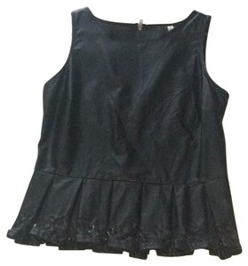Black Swan Top Black Leather