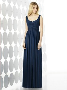 After Six Midnight Navy Chiffon 6727 Modern Bridesmaid/Mob Dress Size 6 (S)