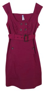 Anthropologie short dress Magenta Buttons on Tradesy
