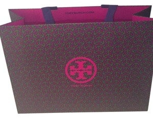 Tory Burch Tote in Purple Green And Maroon