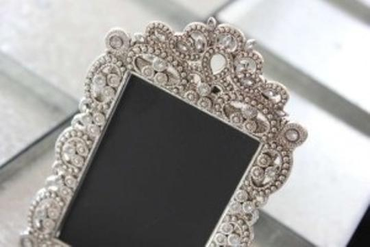 Set Of 10 Jeweled Mini Frames Photo Table Numbers Place Card Bling Vintage Style