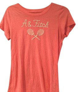 Abercrombie & Fitch T Shirt Bright Orange and gold letters