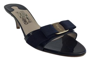 Salvatore Ferragamo Navy Sandals