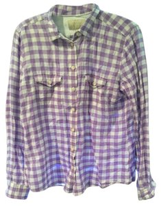 Banana Republic Top Light purple and white