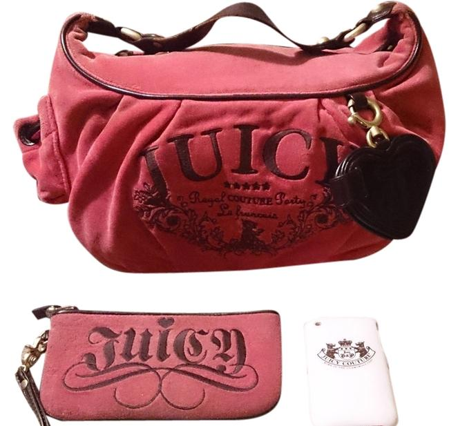 Item - Royal Pink Matching Wristlet & Cell Phone Case 52002/Ca16396 Pink-multi-color Velour and Leather Hobo Bag