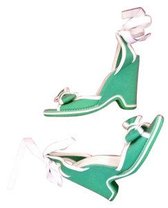 Marc Jacobs green & white Wedges