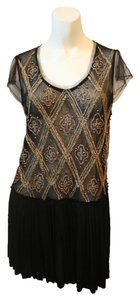 Free People Flapper Beaded Gold Egyptian Dress