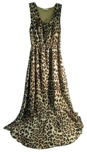 leopard print Maxi Dress by Blu Pepper Linned