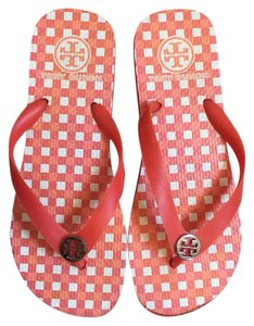 Tory Burch Red, white, orange Sandals
