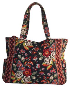 Vera Bradley Tote in Anastasia Red Black