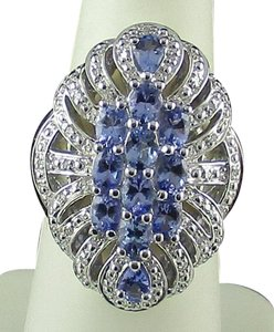 Other 1.70cttw Tanzanite Vintage Cluster Ring - Size 7