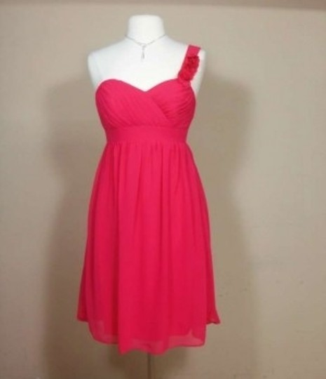 Alfred Angelo Pomegranate Chiffon 7138 Formal Bridesmaid/Mob Dress Size 4 (S)