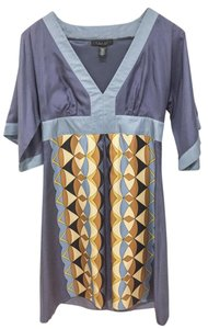Laundry by Shelli Segal Like New 100% Silk Kimono-style Abstract Geo Print Dress
