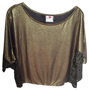 Free People Crop Top Metallic