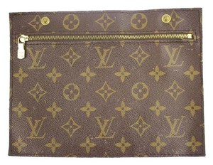 Louis Vuitton Monogram Cosmetic Make Up Travel Pouch LVTY17 Brown